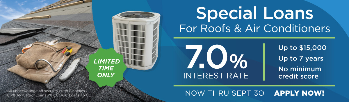 Roof & A/C Home Improvement Loan Special